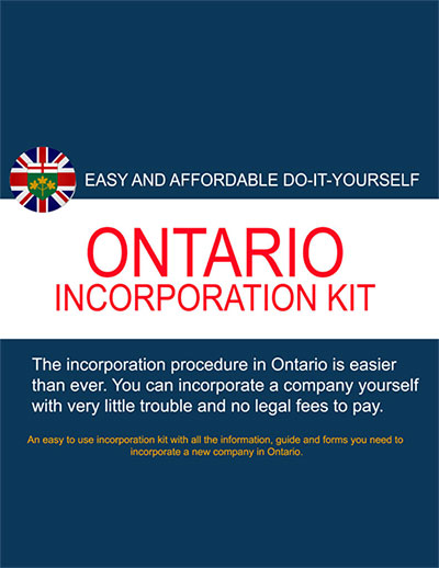 Ontario incorporation kit company formations canada ontario self incorporation kit 4999 pdf format solutioingenieria